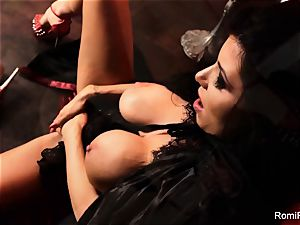 Romi the busty vampire has a super-fucking-hot solo session