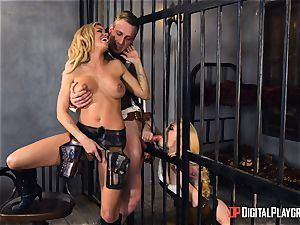 Western beaver tearing up with Jessa Rhodes and Misha Cross