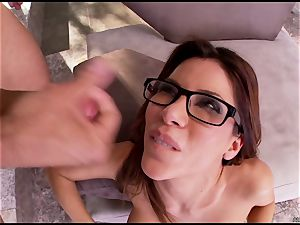 Alexa Nicole gets her face drenched in steaming schlong splooge