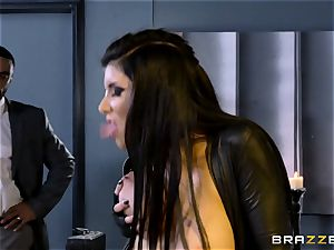 special agent Romi Rain gets snatch deep with the manager
