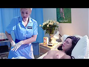 GIRLCORE girly-girl Nurses Give nubile Patient Vaginal examination