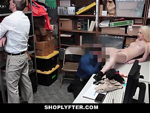 Shoplyfter - super hot teen banged While parent Has To see