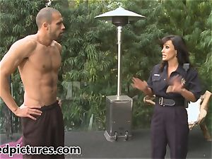 huge-boobed cop Lisa Ann gives out her chisel penalty