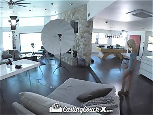 CASTINGCOUCH-X novice tears up audition agent with facial
