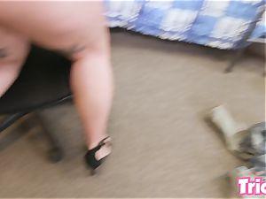 Trickery Ivy Lebelle plumbs a school college girl in dorm
