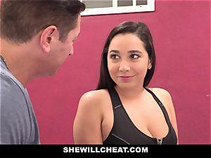 SheWillCheat cuckold girlfriend Karlee Grey pokes Trainer