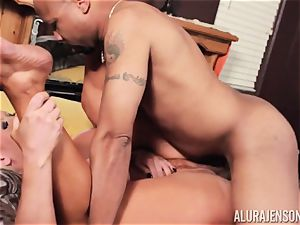 Alura Jenson slammered scrotum deep and receives super-steamy sizzling internal ejaculation