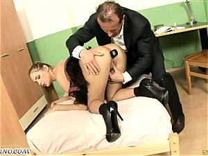 Dean penalizes naughty schoolgirl after class