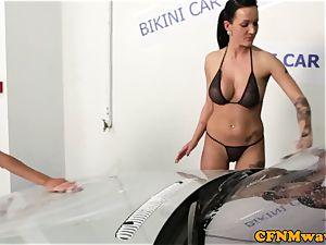 bikini carwash cfnm damsels