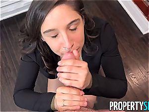 Abella Danger ferociously heads down on a fortunate student's boner