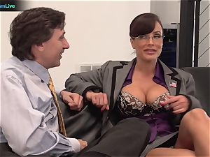 Lisa Ann hard-core plumb with her manager