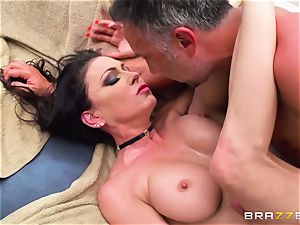 chesty rich female Jessica Jaymes exploits her subjugated and takes his humungous schlong