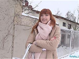 Public Agent German ginger-haired Anny Aurora enjoys spunk-pump
