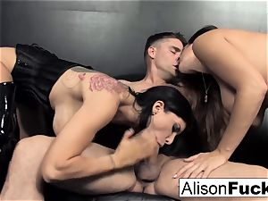 3-way hard-core feisty fuck-a-thon with Alison
