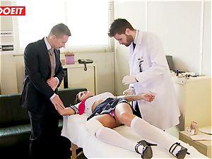 college girl gets manhandled xxx by schoolteacher and medic