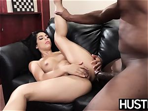tatted stunner Gina Valentina cheats with vagina total of big black cock