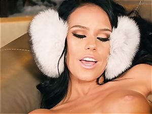 Cutsie Megan Rain drains in fluffy earmuffs